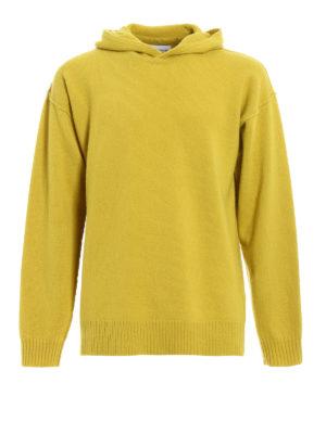Dondup: crew necks - Exposed stitching wool hoodie