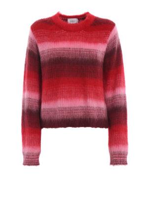DONDUP: maglia collo rotondo - Girocollo in misto mohair a righe sfumate