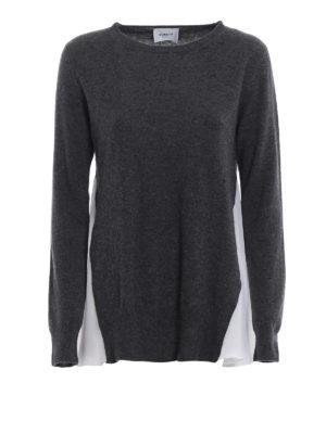 DONDUP: maglia collo rotondo - Maglione in merino e cashmere con volant