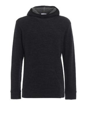 DONDUP: maglia collo rotondo - Pullover modello felpa in lana merino grigia