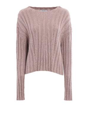 Dondup: crew necks - Lurex rib knitted pullover