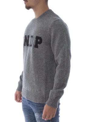 Dondup: crew necks online - Different textures logo crewneck