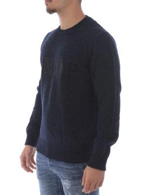 Dondup: crew necks online - Different textures logo wool pull