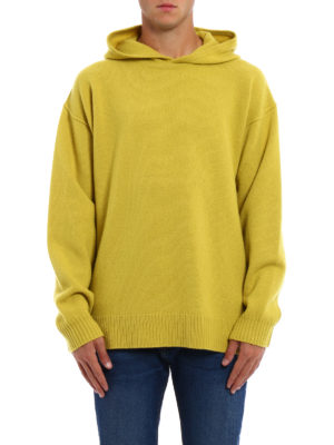 Dondup: crew necks online - Exposed stitching wool hoodie