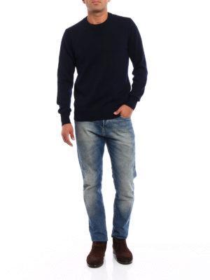Dondup: crew necks online - Extrafine merino wool crewneck