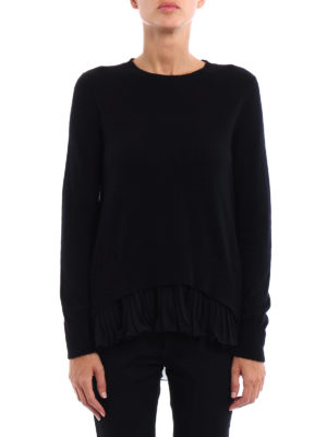 Dondup: crew necks online - Pleated bottom cashmere sweater
