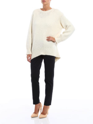 Dondup: crew necks online - Rear vent egg-shaped comfy pullover