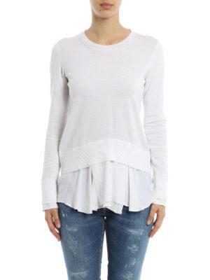 Dondup: crew necks online - Satin detailed cotton sweater
