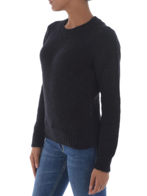 Dondup: crew necks online - Soft alpaca blend black sweater