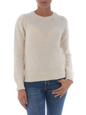 Dondup: crew necks online - Soft alpaca blend white sweater