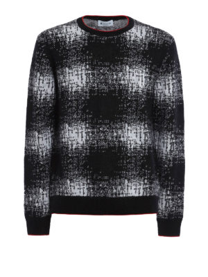 Dondup: crew necks - Patterned mohair blend sweater