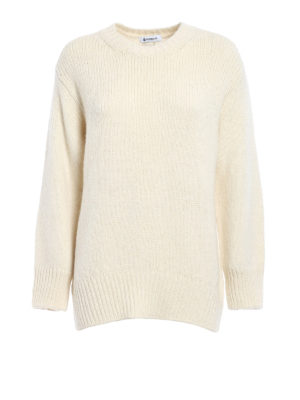 Dondup: crew necks - Rear vent egg-shaped comfy pullover