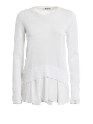 Dondup: crew necks - Satin detailed cotton sweater