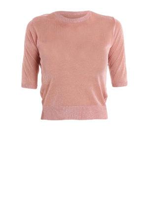 Dondup: crew necks - Short sleeve glowing crop sweater