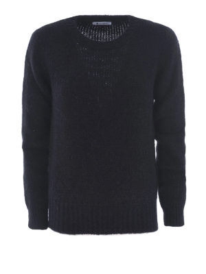 Dondup: crew necks - Soft alpaca blend black sweater