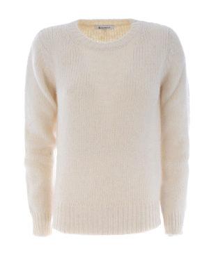 Dondup: crew necks - Soft alpaca blend white sweater