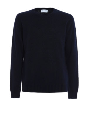 Dondup: crew necks - Textured wool blend sweater