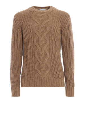 DONDUP: maglia collo rotondo - Caldo girocollo in lana merino intrecciata
