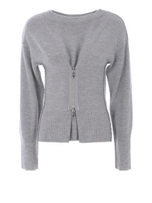 Dondup: crew necks - Zip insert merino wool crewneck