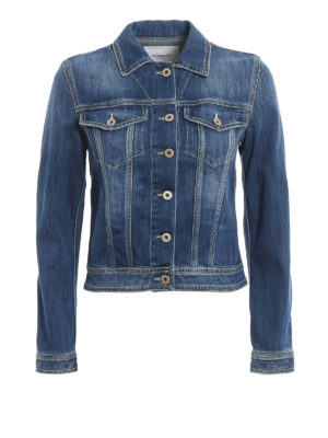 DONDUP: denim jacket - Denim classic crop jacket