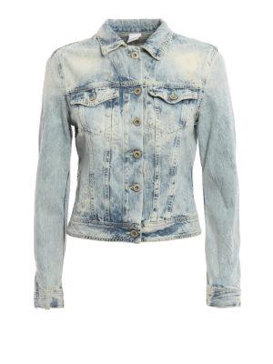 Dondup: denim jacket - Newangel ripped denim jeans