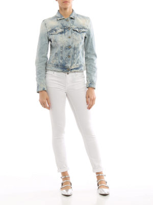 Dondup: denim jacket online - Newangel ripped denim jeans