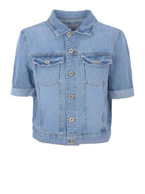 DONDUP: giacche denim - Giacca in denim con maniche corte