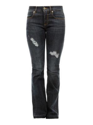 DONDUP: jeans a zampa - Jeans svasati destroyed