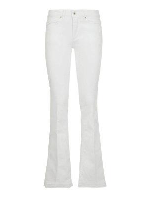 DONDUP: jeans a zampa - Jeans Neon svasati bianchi