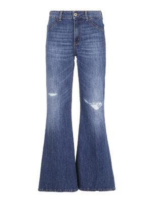 DONDUP: jeans a zampa - Jeans a zampa con abrasioni