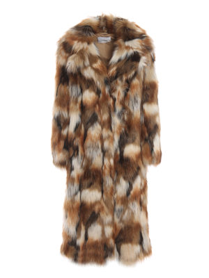 DONDUP: Pellicce e montoni - Cappotto midi effetto pelliccia
