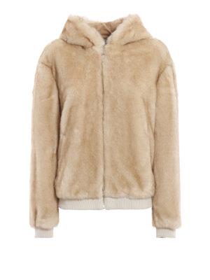 DONDUP: Pellicce e montoni - Giubbino effetto pelliccia con cappuccio
