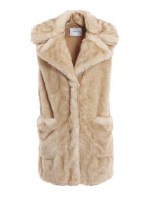 DONDUP: Pellicce e montoni - Eco-pelliccia senza maniche beige chiaro