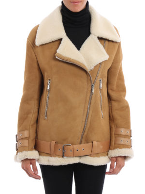 Dondup: Fur & Shearling Coats online - Biker shearling coat
