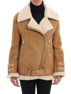Dondup: Fur & Shearling Coats online - Biker shearling coat