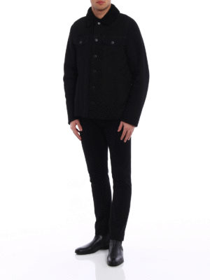 Dondup: Fur & Shearling Coats online - Black soft shearling jacket