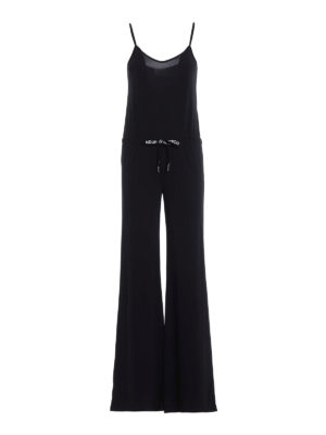 Dondup: jumpsuits - Sleeveless jersey jumpsuit