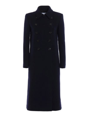 Dondup: knee length coats - Cashmere double-breasted coat
