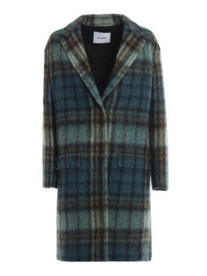 DONDUP: cappotti al ginocchio - Cappotto in morbido scozzese verde acqua