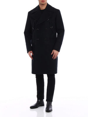 Dondup: knee length coats online - Exposed stitchings wool coat