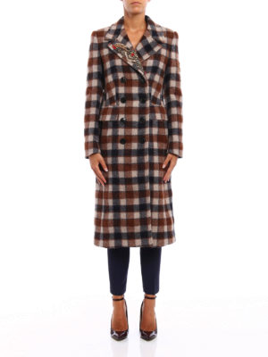 Dondup: knee length coats online - Pamily double-breasted coat