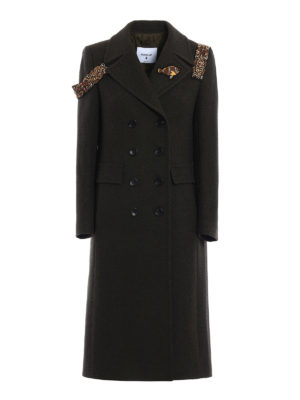 Dondup: knee length coats - Pamily embellished coat
