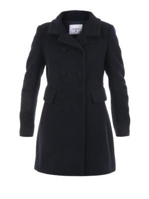 Dondup: knee length coats - Wool blend classic coat