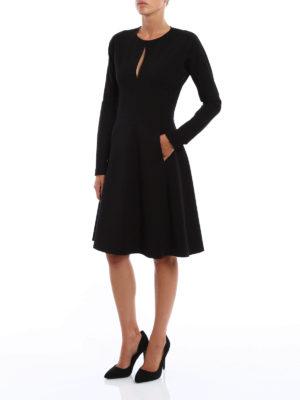 Dondup: knee length dresses online - Gasparite flared dress