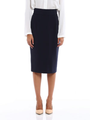 Dondup: Knee length skirts & Midi online - Thoneick crepe cady sheath skirt