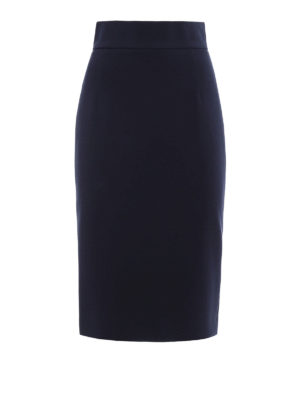 Dondup: Knee length skirts & Midi - Thoneick crepe cady sheath skirt