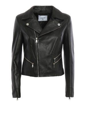 Dondup: leather jacket - Birk leather jacket