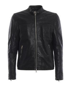 DONDUP: giacche in pelle - Giacca biker nera in pelle