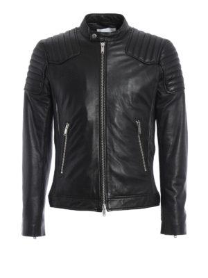 Dondup: leather jacket - Lambskin Biker jacket