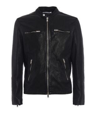 Dondup: leather jacket - New Biker leather jacket